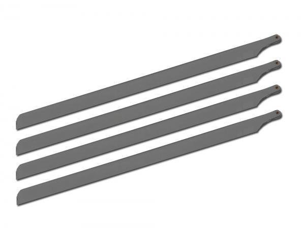 SpinBlades matt grey scale 4 Blatt Satz Länge 700 mm