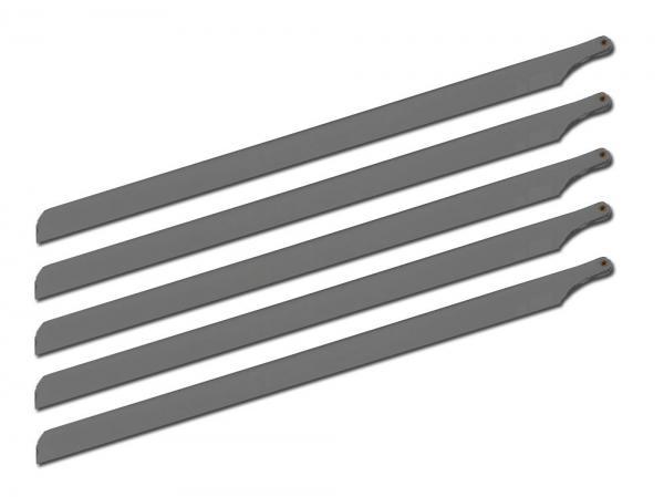 SpinBlades matt grey scale 5 Blatt Satz Länge 700 mm