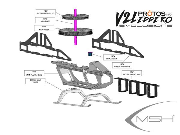 MSH Protos Max V2 / EVO Conversion Kit Leggero # MSH71224