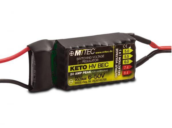 MTTEC KETO HV BEC 12s 10A/20A Peak V2