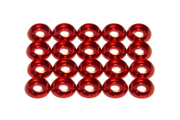 OXY Heli OXY4 Zierunterlegscheibe C M1.6 rot 20 Stück