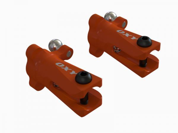 OXY Heli OXY3-4 Heckblatthalter Alu orange 2St