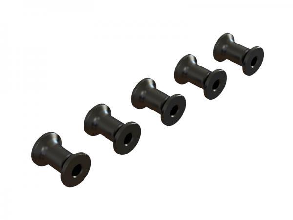 OXY Heli OXY5 Rahmenabstandshalter Alu schwarz - 5 Stück