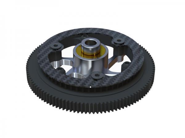 OXY Heli OXY2 Hauptgetriebe - Alu Freilauf System gerade verzahnt