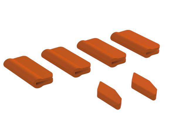 OXY Heli OXY5 Landegestell - / Leitwerks - Schutz Set orange