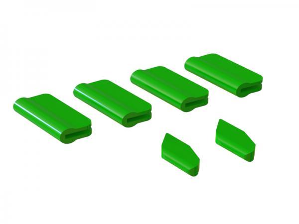 OXY Heli OXY5 Landegestell - / Leitwerks - Schutz Set grün