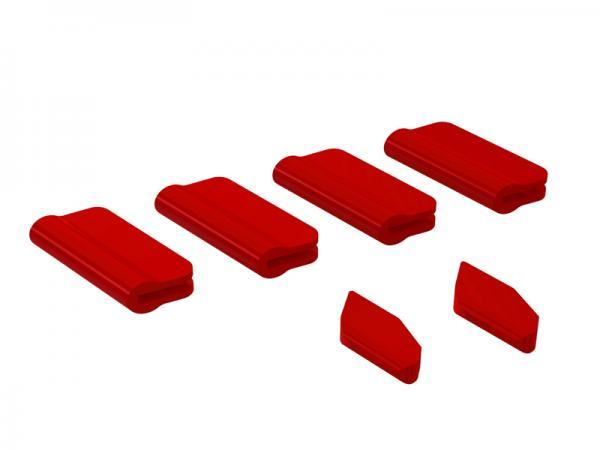 OXY Heli OXY5 Landegestell - / Leitwerks - Schutz Set rot