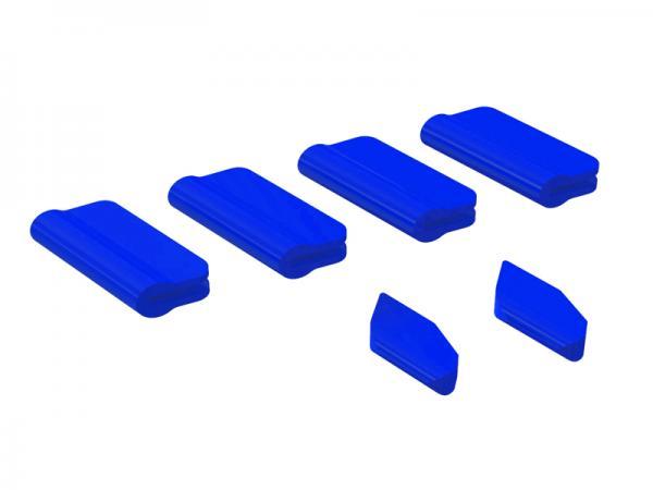 OXY Heli OXY5 Landegestell - / Leitwerks - Schutz Set blau