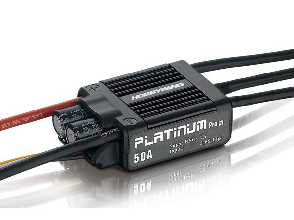 HOBBYWING Platinum Pro 50A Regler 2-6s BEC 7A für 450 Heli