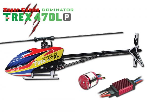 Align T-REX 470L P DOMINATOR KIT with 6S Motor and ESC