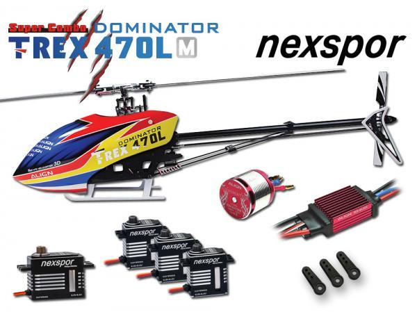 Align T-REX 470LM DOMINATOR Nexspor Combo