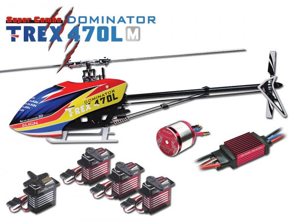 Align T-REX 470L M DOMINATOR 6S Combo Metal Edition (w/o FBL System)