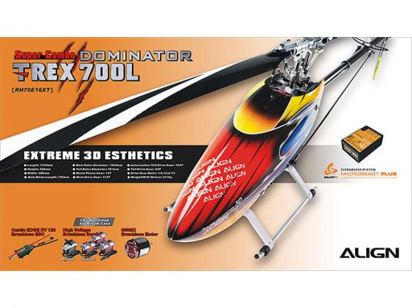 Align T-Rex 700L DOMINATOR HV Super Combo mit Beastx PLUS
