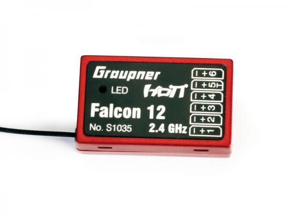 Graupner Empfänger Hott Falcon 12 mit Kreiselsystem ohne Verpackung