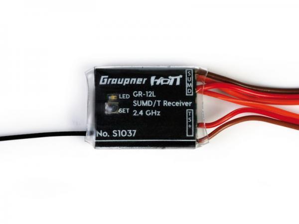 Graupner Empfänger GR-12 L HoTT, 8 Kanal SUMD +T