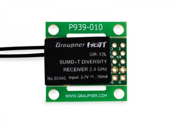 Graupner Empfänger SUMD+T 2 Ant. GR-12L HoTT PCB