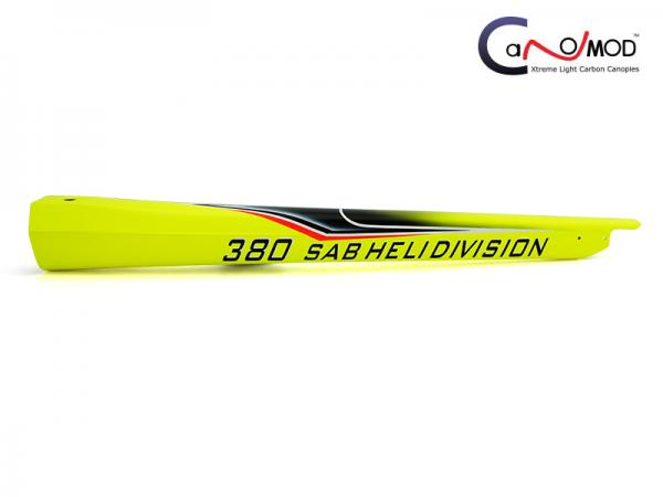 Canomod Goblin 380 Yellow Coco - Carbon Tail Boom
