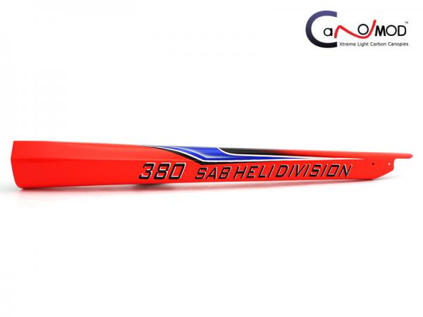 Canomod Goblin 380 Red Coco - Carbon Tail Boom