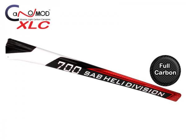Canomod Goblin 700 Competition Red Eyes - Carbon Tail Boom leichte Kratzer