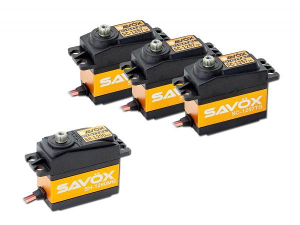 SAVÖX Digital Servo Set 3x SC-1257TG 1x SH-1290MG