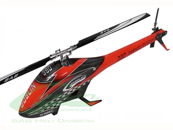 GOBLIN 380 RED/BLACK (with blade and tail blade) # SG380