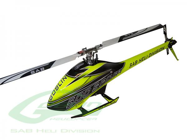 SAB Goblin 500 Sport HELICOPTER KITCarbon  yellow (with 2x BLADES)