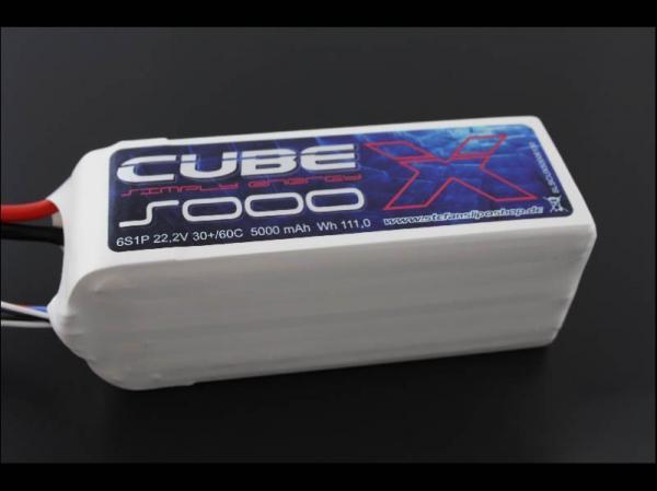 SLS X-CUBE 5000mAh 6S1P 22,2V 30C/60C