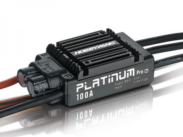 HOBBYWING Platinum Pro 100A Regler 2-6s BEC 10A für 480-550 Heli # HW30203900