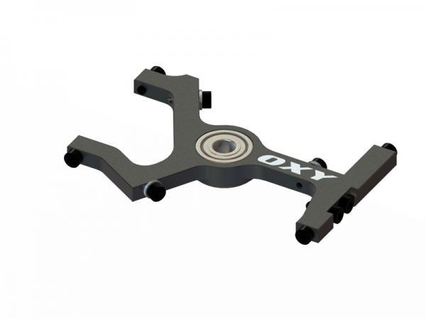 OXY Heli OXY2 CNC Alu oberer Hauptwellenlagerbock - schwarz # SP-OXY2-015