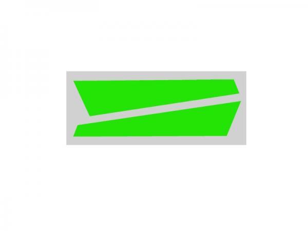 OXY Heli OXY2 Heckfinnenaufkleber grün