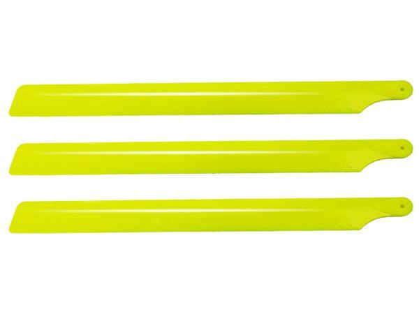 Lynx OXY2 Kunststoff Rotorblätter 210mm 3 Blatt - gelb
