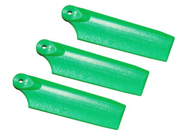 LYNX OXY3 3 Blatt Kunststoff Heckrotorblätter 47 mm - grün