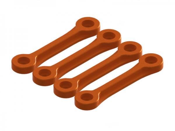 OXY Heli OXY3 TE Alu Heckrohrhalter - Unterlegplatten orange