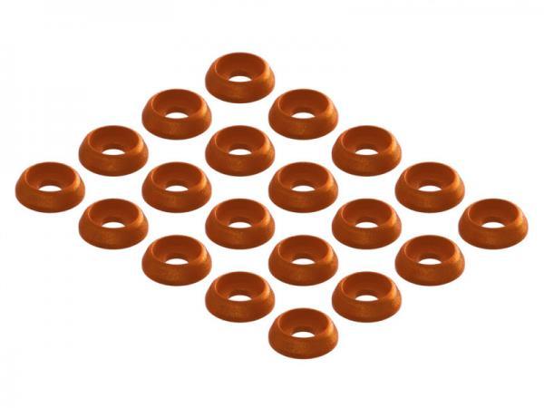 OXY Heli OXY3 TE Zier- Unterlegscheiben orange 20Stück
