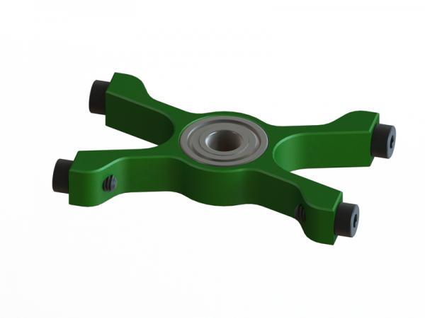 OXY Heli OXY3 GL unterer Alu Hauptwellenlagerbock grün