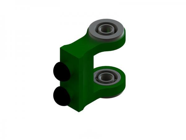 OXY Heli OXY3 GL Alu Heckanlenkungshalter grün