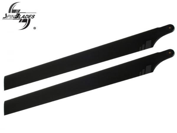 SpinBlades matt black scale Halbsymmetrisches Blatt 710 mm