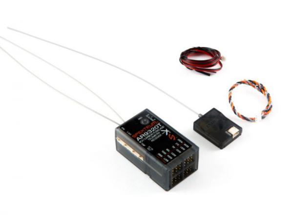 Spektrum AR9320T 9Kanal Carbon Empfänger mit Telemetrie