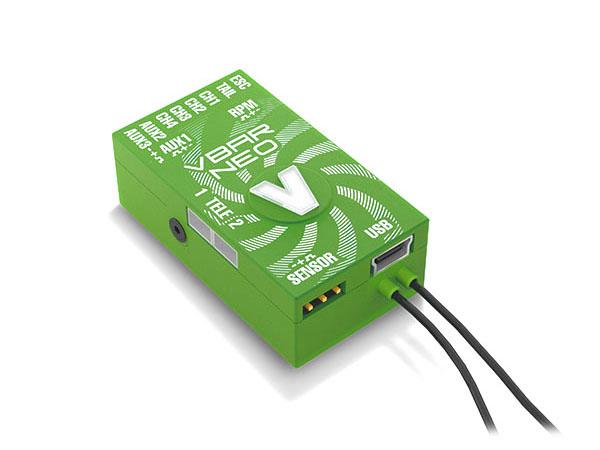 Mikado VStabi NEO VLink 6.x Express mit Alu-Gehäuse grün
