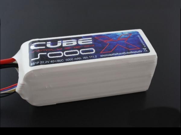SLS X-CUBE 5000mAh 6S1P 22,2V 40C/80C