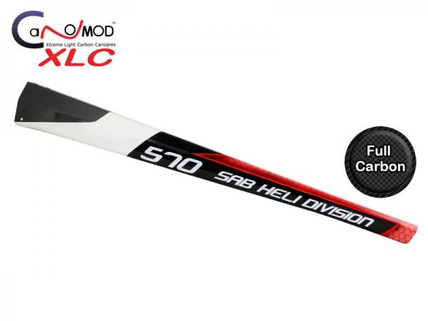 Canomod Goblin 570 Red Eyes - Carbon Tail Boom
