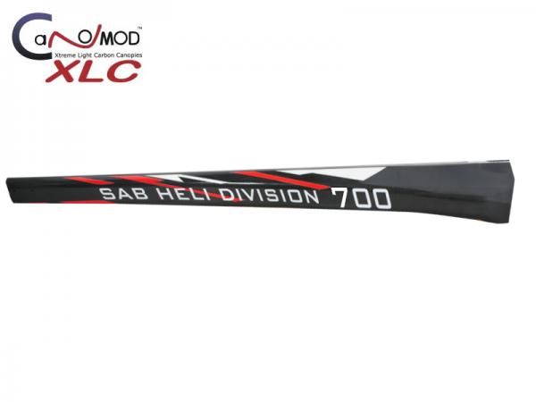 Canomod Goblin 700 Competition RedW - Carbon Tail Boom