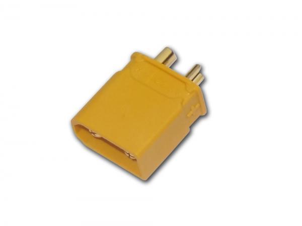 Goldkontakt Buchse mit Gehäuse gelb XT30 # ZB-BU-XT-30