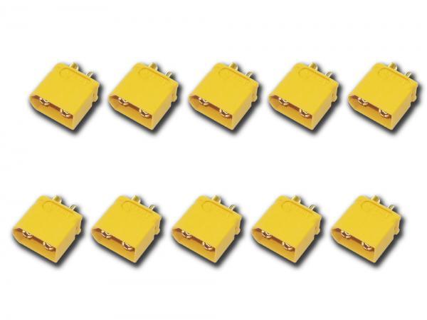 Goldkontakt Buchse 3,5mm mit Gehäuse gelb ( XT-60 ) 10er Set