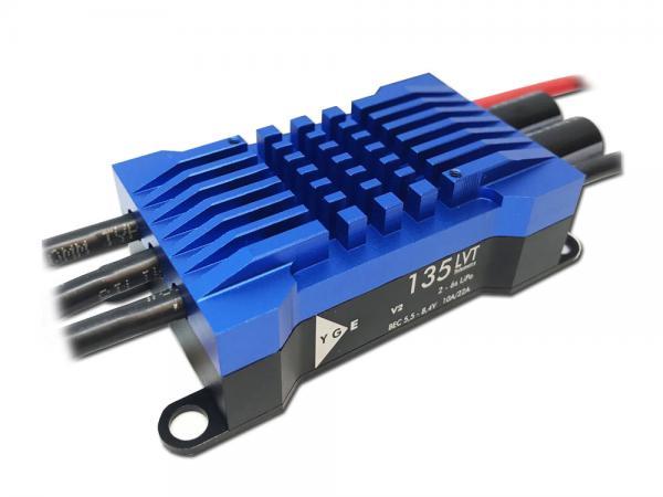 YGE 135LVT V2 Brushless Regler 135A mit Telemetrie 2-6S