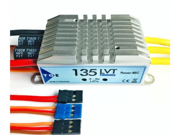 YGE 135LVT Brushless Regler 135A mit Telemetrie 2-6S