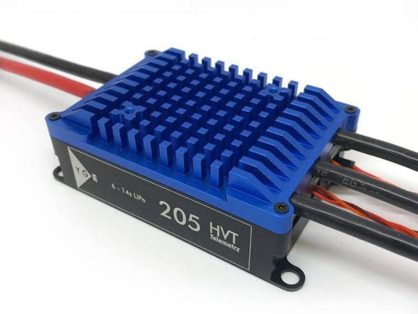 YGE 205HVT Brushless Regler 205A mit Telemetrie und BEC