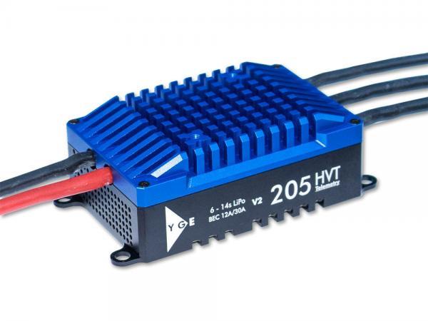 YGE 205HVT Brushless Regler 205A mit Telemetrie und BEC V2