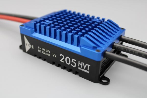 YGE 205HVT Brushless Regler 205A mit Telemetrie und BEC V2 # YGE-205HVT-V2