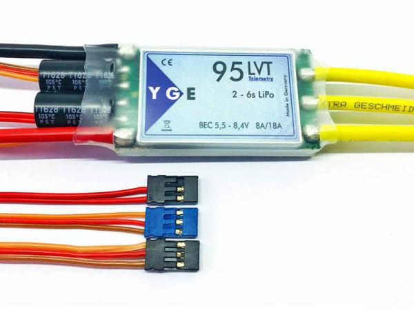 YGE 95LVT Brushless Regler 95A mit Telemetrie 2-6S